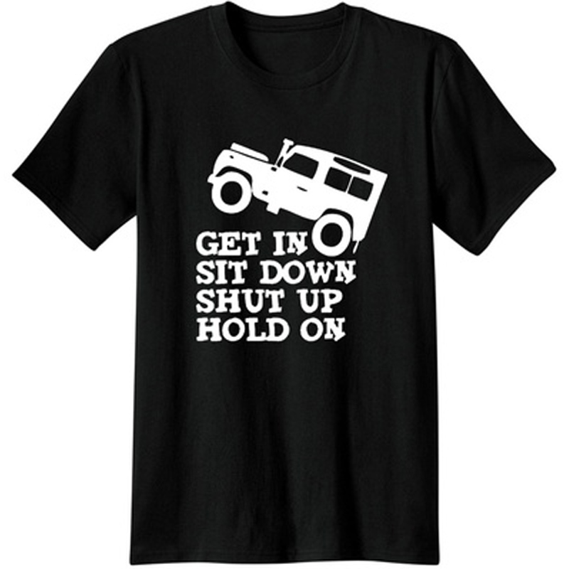 /'Get in Sit down Shut up Hold On/' Jeep Funny Ladies T-shirt