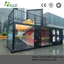 newest modern design high quality modified shipping container house for shop
