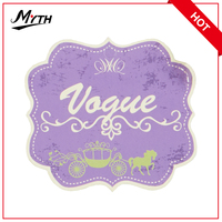 Wholesale decorative fabric embroidery designs woven patch for clothing labels