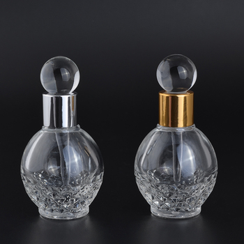 12ml empty clear glass perfume bottles with glass stick stopper and aluminum cap for essential oil packaging