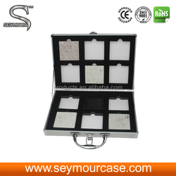 Aluminum Sample Cases Artificial/Marble/Granite/Quartz Stone Sample Display Suitcase Aluminum Display Suitcase