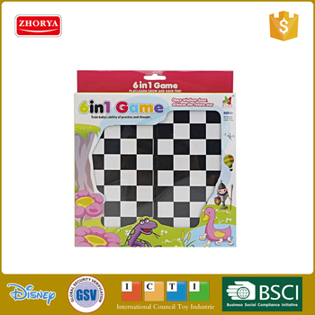 plastic intelligent kids play game chess board game