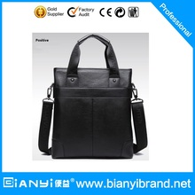 Hot selling fashion cow leather shoulder bag business men handbag