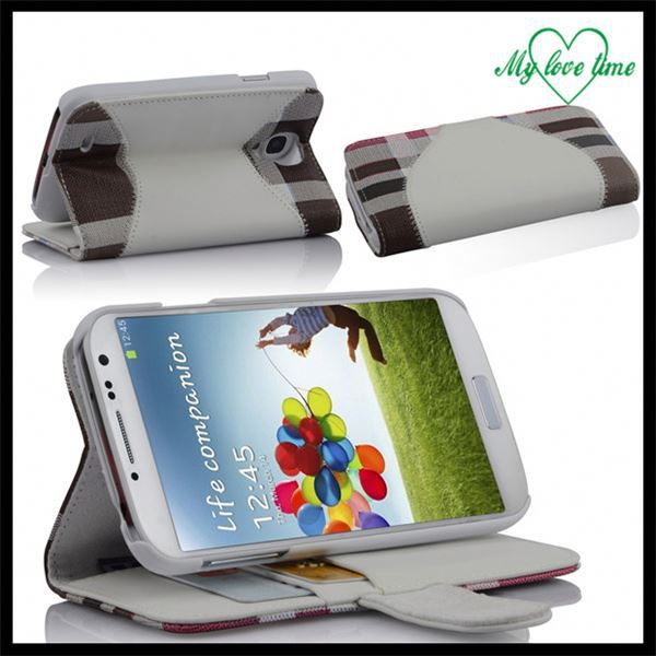 High Quality Flip Leather Case Pouch For Samsung Galaxy S4