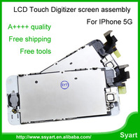 A++++Grade 10pcs/lot LCD Full set Display Digitizer For iPhone 5 Touch Screen Digitizer Assembly Replacement lcd for iPhone 5g