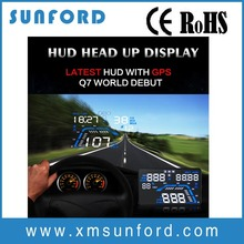 Car hud Q7 head up display easy Plug and Play with 5.5 inch screen and high-definition display