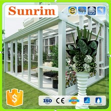 Luxury tempered insulated green house sunroom glass door display cold room