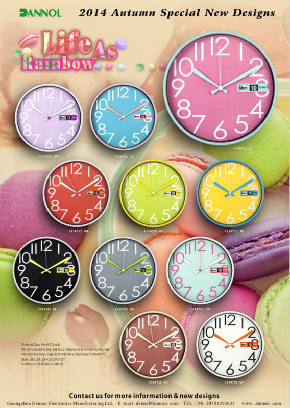 Fancy decorative clock/ birthday souvenirs for kids animal plastic wall clock