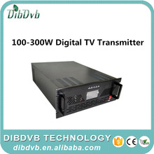 300W Uhf digital mmds transmitter with tv antenna connecting digital modulator