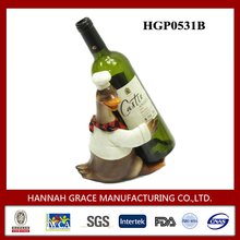 Polyresin Duck Figurines Wine Bottle Rack