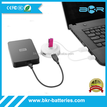 Wholesale 4 port USB 2.0 OTG sub hub with 80cm USB cable for mouse,mobile,table