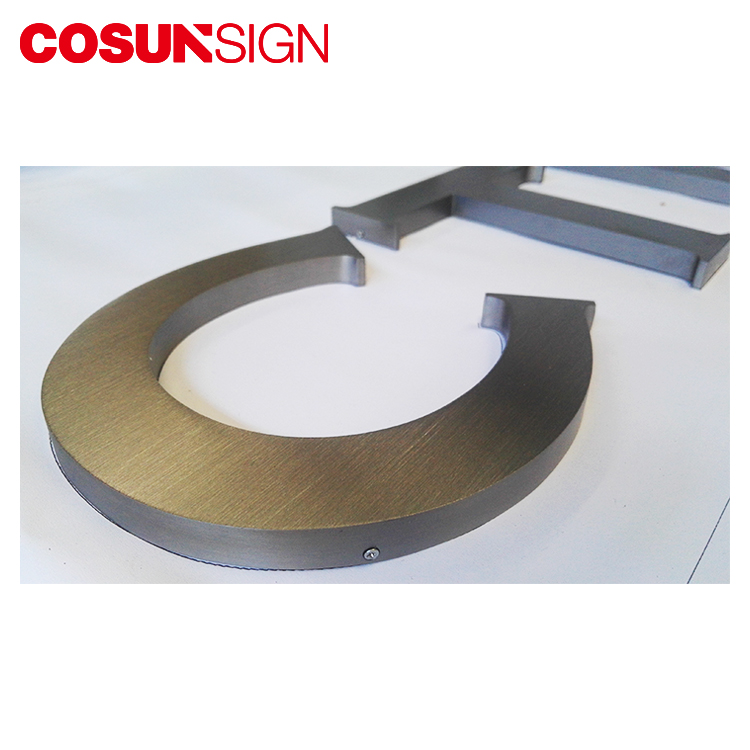 Customer design and hot sale thin thickness solid metal sign