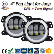 jeep parts fog led with turn signal halo ring fog light for jeep