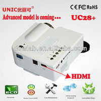 Advanced level!!!UC28+ 1080p support mini lcd beamer