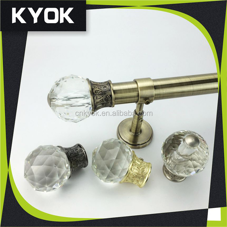 Flat Anti-brass curtain rod /curtain pole / curtain pipe , curtain accessories for home decor,