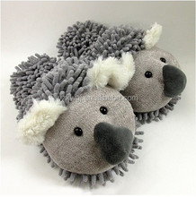 Lovely Indoor Plush Slippers Stuffed Koala Slipper Warm Winter Cartoon House Shoes