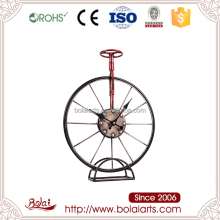 BSCI competitive price iron Single wheel shape craft clock latest bicycle model and prices