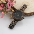 Watches ladies jeweled Bewell wooden watches