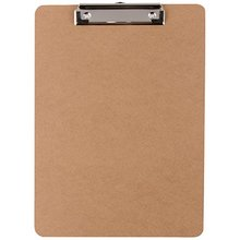 Wood material A4 size Flat Clip Rubber Grip Hardboard Clipboard/Writing Board