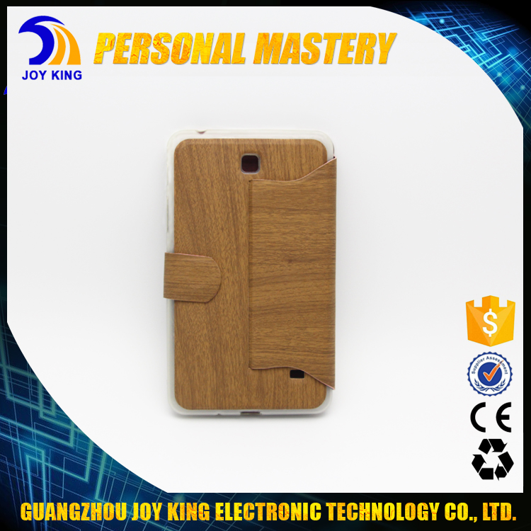 Promotion Wood Texture Colorful Flip Leather Cover Tablet Case For Samsung Tab T230 JKLC08