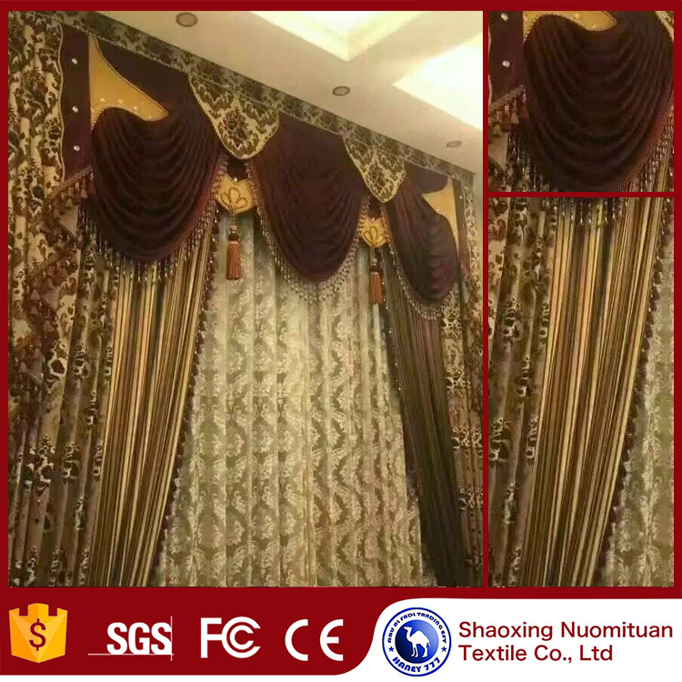 Fashion design polyester luxury drapes cortinas blackout cheap curtains