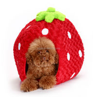 Funny Designer Soft Custom Cheap Pet Bed For Dogs Strawberry dog house IPET-PB18