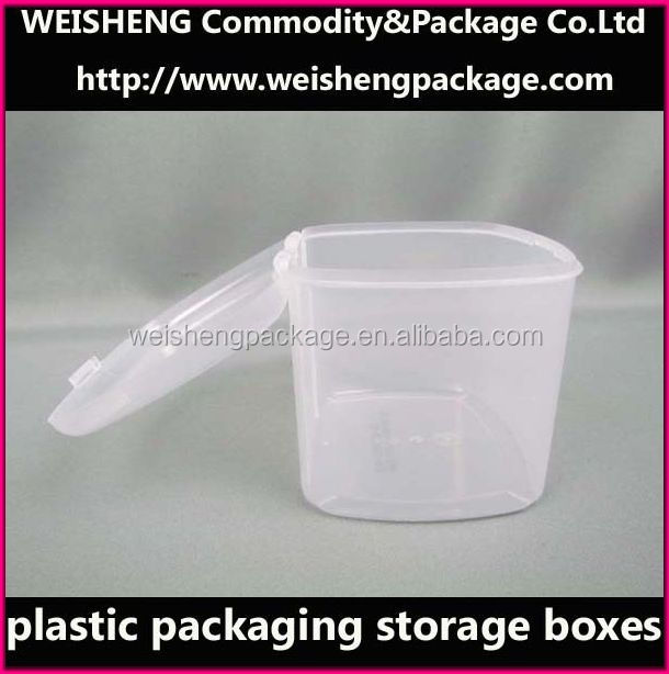 Wholesale clear cosmetic case/small round plastic containers/PP Cosmetics case