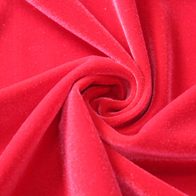 2017 China Factory Hot Sale red plain dyed knitted 250gsm100%polyester korea velvet fabric for Garment