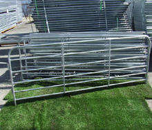 5inch6foot*12foot galvanized round pen cattle panel/steel corral panel/horse corral panel