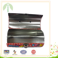 Cute toy tin box with pin hinge, lock and handle, toy case