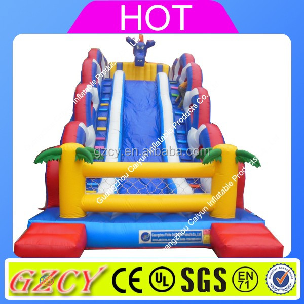 2016 Inflatable snappy dragon slide, dragon inflatable slide for children