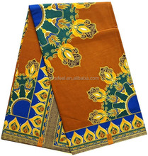 Best selling flower pattern soft african wax fabric for making cloth
