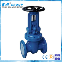 Cast steel rising stem gate valve with hand wheel