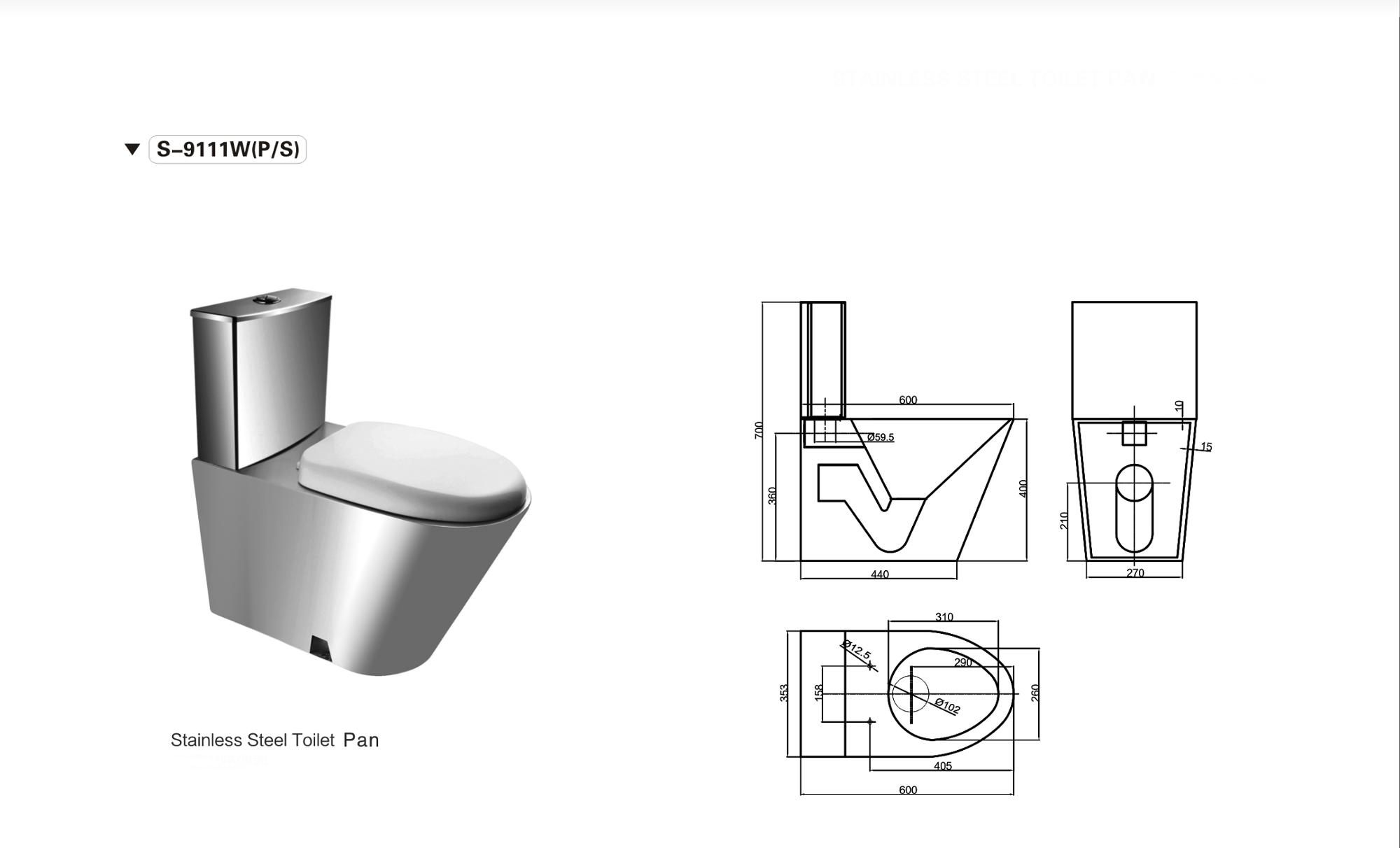 Wholesale High Quality Stainless Steel Toilet WC