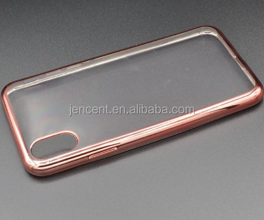 new arrival plating tpu bumper mobile phone case for iphone 8 8 plus case
