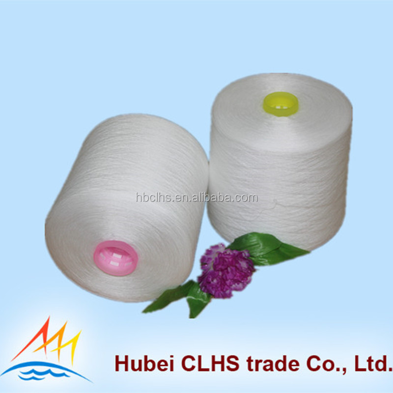 Recycled spun polyester yarn 50s/3 from manufacturer china