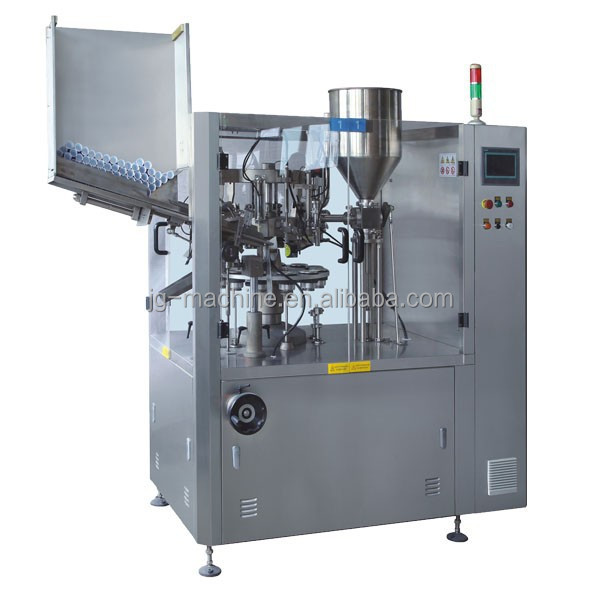 Hi speed cosmetic manufacturing machinery filling and sealing machine