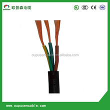 100m PVC Insulation Flexible Round Stranded Copper Power Cable 3 X 16