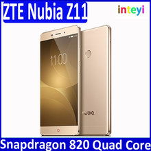 Cheap ZTE Nubia Z11 Mobile Phone 4GB RAM 64GB ROM 5.5 inch Quad Core 16.0MP 1920x1080 Snapdragon 820 Fingerprint NFC Android