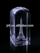 Blank crystal 3D laser K9 optical glass blank cube, memento,glass block