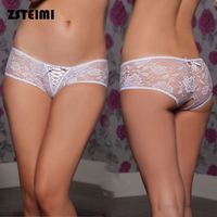 Plus Size Colorful Women Thong Sexy Lace Transparent Young Girl Underwear Models