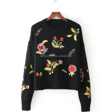 Wholesale High Quality Women Handmade Embroidered Sweater