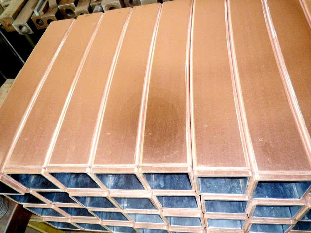 200*200mm copper mould tubes for ccm steel-making spare parts