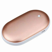 Wholesale candy color USB Rechargeable power bank 5200 hand warmer Heater