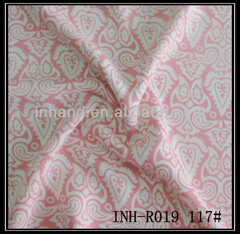 2014 top 10 textile fabric 100%spun mercerized rayon/viscose fabric