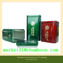 high quality printing tin tea can with airtight metal lid