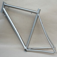 Titanium road bike frame with seat tube bend breezer dropouts