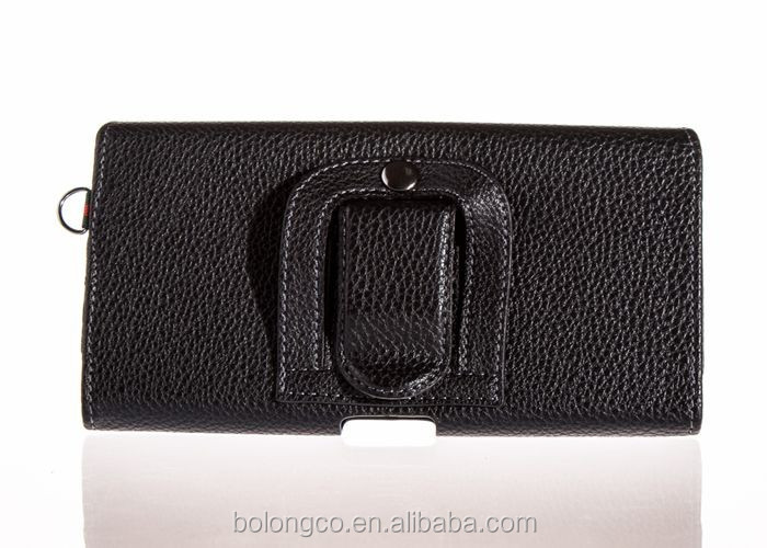 Excellent stylish leather belt bag holster belt clip case for iphone 6 plus wholesale