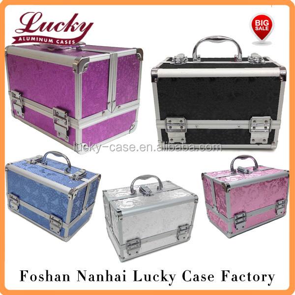 Large Aluminium Rose Beauty Box Cosmetic Make Up Vanity Jewellery Saloon Case
