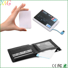 Universal Ultra thin quick charge 2.0 power bank 2400mah battery for smart phone